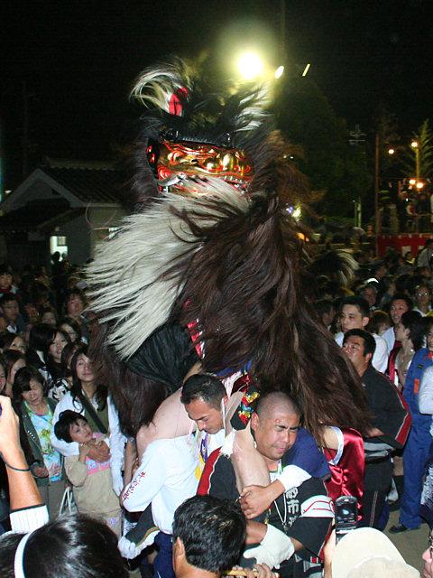 毛獅子舞の道中舞・大塩天満宮の秋祭り(播州秋祭り)/姫路市