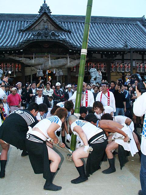 竹割り神事と一ツ物神事・曽根天満宮秋祭り(播州秋祭り)/高砂市