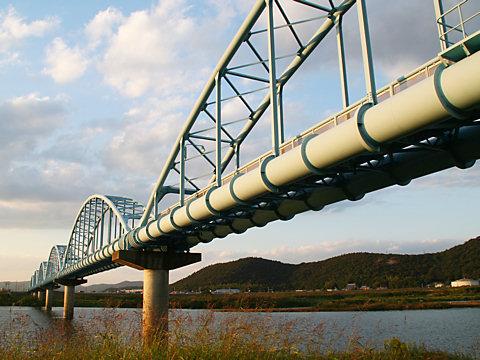 加古川と水道橋/加古川市