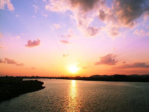 加古川の夕日/加古川市