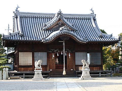 尾上神社の尾上の松と片枝の松(播州松めぐり)/加古川市