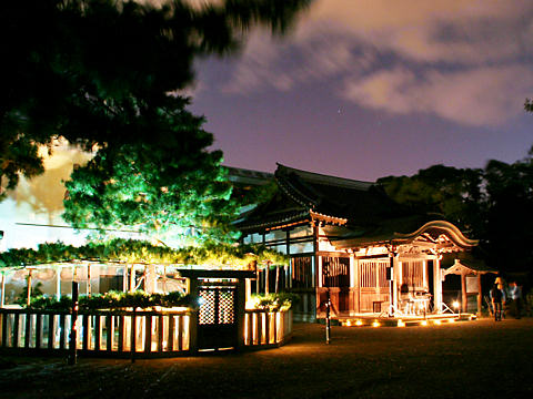 高砂神社のライトアップ夜景・たかさご万灯祭