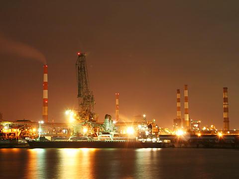 東播磨港別府港のプラント・工場の夜景/加古川市