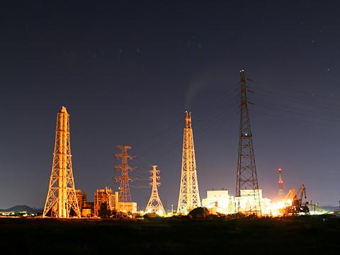 発電所の夜景・JPOWER電源開発㈱高砂火力発電所