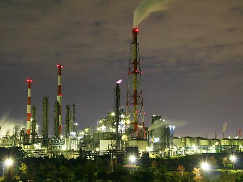 ダイセル化学工業網干工場の夜景/姫路市