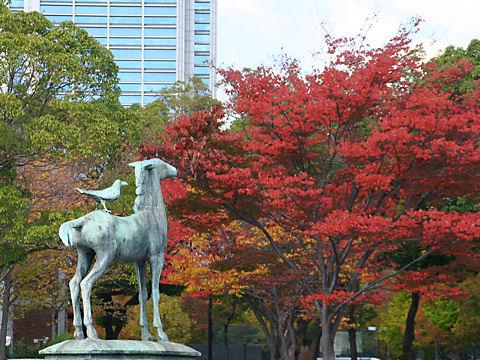 神戸東遊園地の紅葉