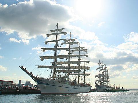 帆船日本丸/神戸港