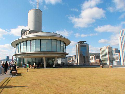 神戸税関の展望台と屋上庭園