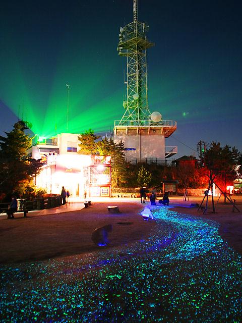 摩耶★きらきら小径の夜景とレーザー光線