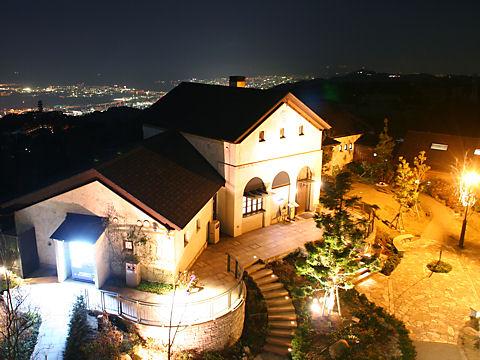 六甲山ガーデンテラスのライトアップ夜景