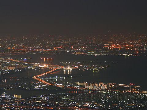 尼崎~大阪~淀川河口の夜景