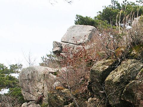 天狗の横顔に見える?? 天狗岩