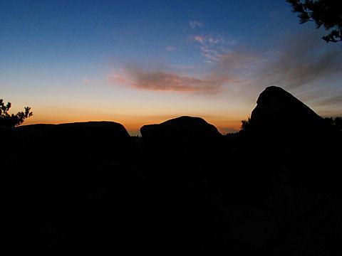 天狗岩のトワイライト夜景