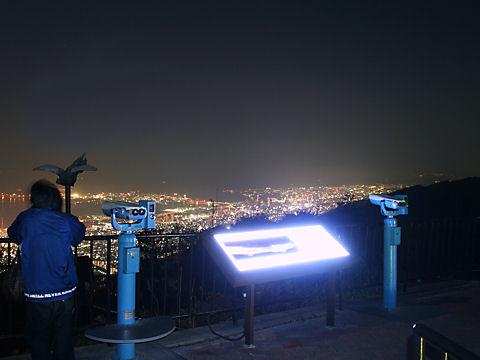 六甲山展覧台と神戸1000万ドルの夜景