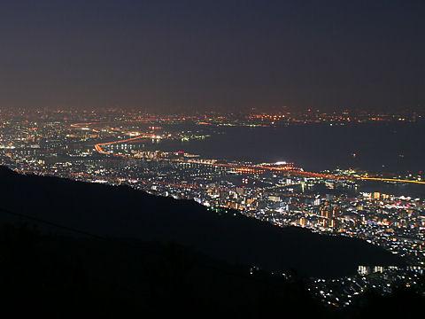 芦屋~西宮~尼崎~大阪の夜景