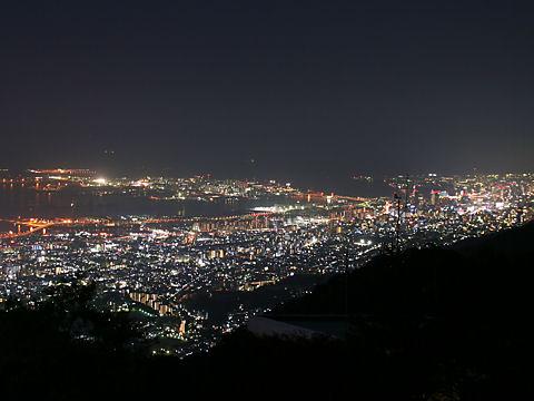 摩耶~HAT神戸~神戸ポートアイランド~神戸港の夜景