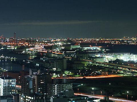 摩耶埠頭と六甲アイランドの夜景
