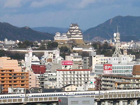 手柄山公園から見た姫路城