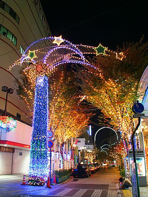 クリスマスイルミネーション夜景