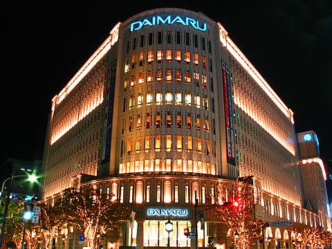 大丸神戸店のクリスマスイルミネーション夜景