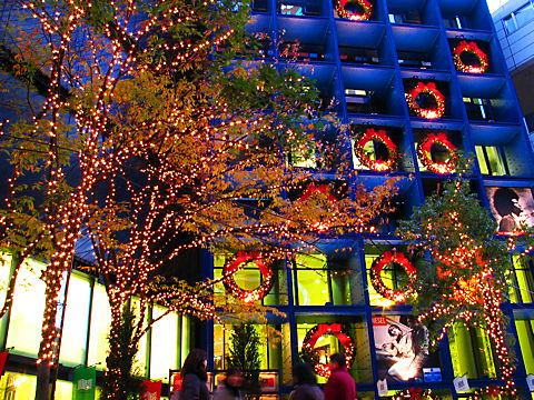 ジーニアスギャラリーのクリスマスイルミネーション