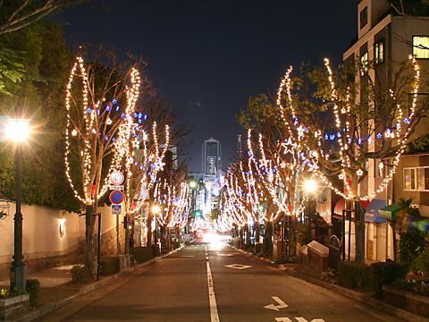 北野坂のクリスマスイルミネーション