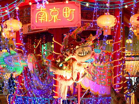南京町ランターンフェア・中華街のクリスマスと中国提灯