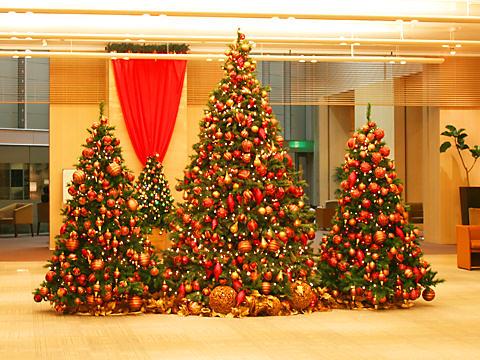 クラウンプラザ神戸のクリスマスツリー