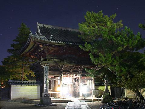 鶴林寺のライトアップ夜景