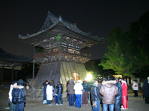 鶴林寺の除夜の鐘