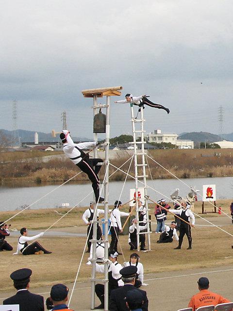 はしご乗り・加古川消防出初式