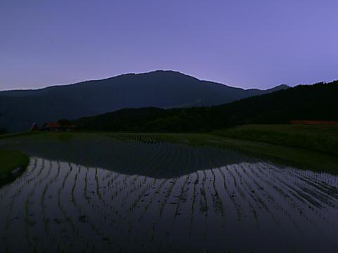 別宮の棚田と氷ノ山の夜景