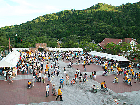 太陽公園火祭り