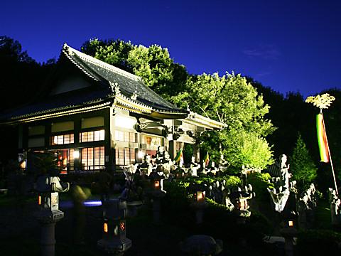 鶏足寺と五百羅漢の夜景・太陽公園/姫路市