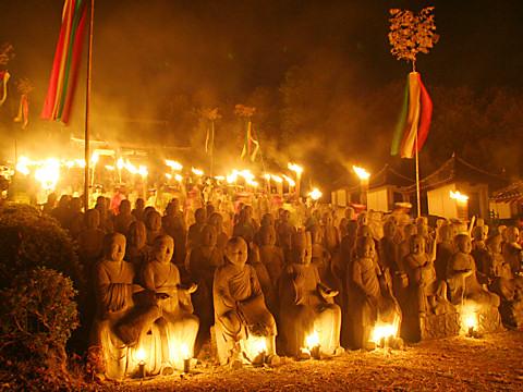 太陽公園の火祭り/姫路市