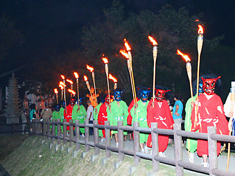 太陽公園鶏足寺火祭り/姫路市