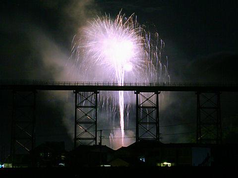 余部鉄橋の花火