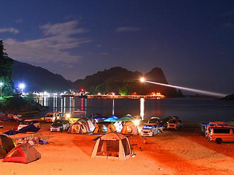 香住海岸・但馬海岸の漁り火と日本海の夜景
