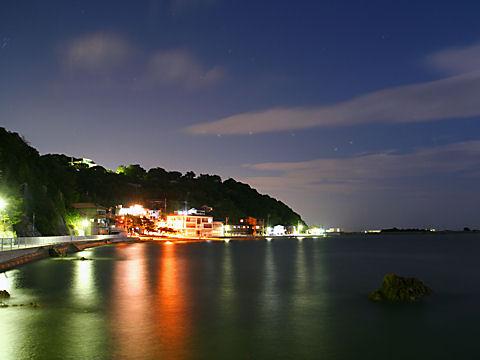 新舞子浜の夜景/月光・月夜の夜景