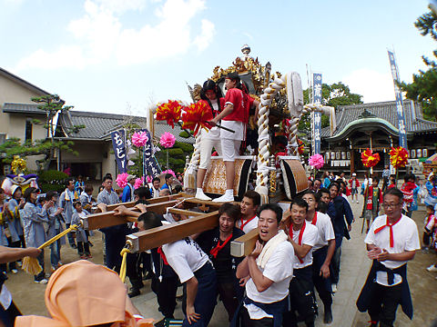 荒井神社の秋祭り・写真画像