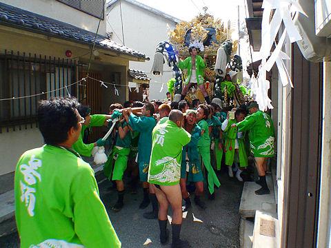 播州の秋祭り屋台巡行写真画像