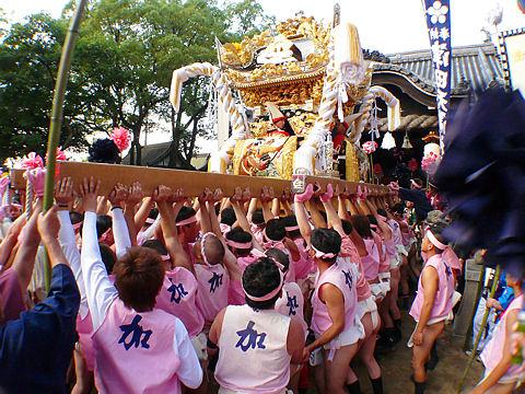 津田天満神社の秋祭り