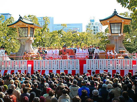 湊川神社の節分