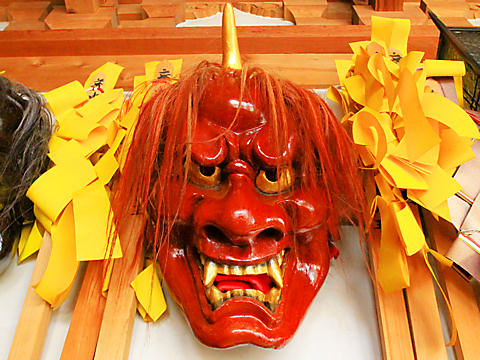 兵庫県、神戸の節分・鬼の面