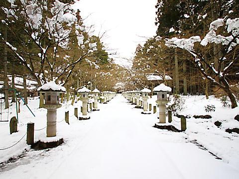 高山寺の雪景色