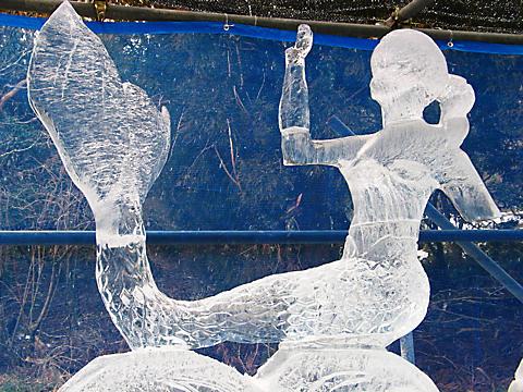 六甲山氷の祭典・氷の彫刻