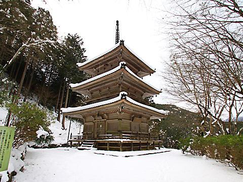 高源寺の雪景色