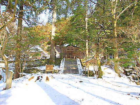 石龕寺の雪景色