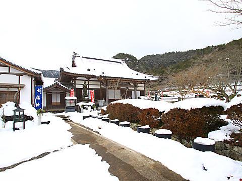 丹波 白毫寺の雪景色