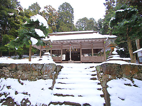 岩座神の棚田の雪景色